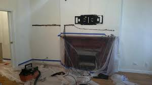 Tv Mount Over Fireplace by Tv Mounting Over Fireplace U0026 Universal Control Setup Manhattan