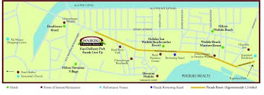 map of waikiki waikiki parade parade route