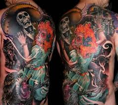 fantastic dia de los muertos tattoo design in 2017 real photo