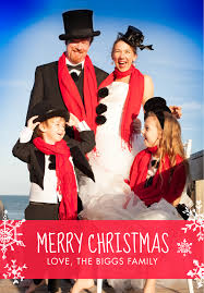 creative christmas card family photos frog prince paperie