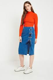 up skirt gestuz deona denim lace up skirt outfitters