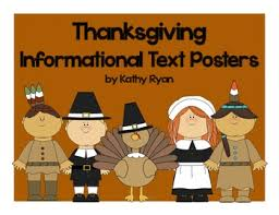 thanksgiving informational text posters and coloring book by kathy