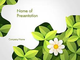 green gear shape with flower powerpoint template backgrounds