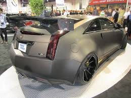 matte black cadillac cts v image d3 le monstre cadillac cts v coupe wide photo by