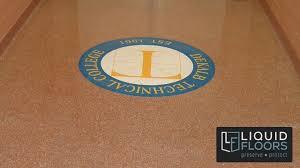 decorative quartz logo industrial flooring study
