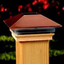 4x4 post cap lights deckorators solar copper post cap deckexpressions