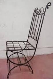 chaises en fer forgé lot de 2 chaises fer forgé empire