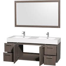 Wall Mounted Bathroom Vanity Cabinets Amare 60
