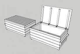 fabrication de coffre en bois construire un coffre de jardin meilleures idées créatives pour