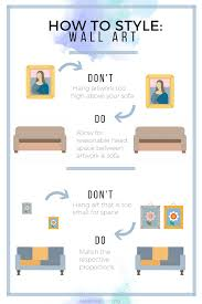 how high to hang art 5 ways to style your home u0026 save on renovation