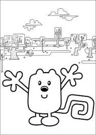 pin colouring books wow wow wubbzy