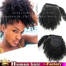 short ponytails for short african american hair african american short clip in human afro kinky curly virgin