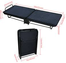 Single Folding Bed Single Rollaway Bed With Mattress Rolling Folding Cots Walmart