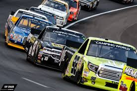 Racing Green Flag Nascar Trucks Race Under The Lights At Texas Motor Speedway The