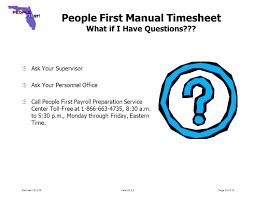 people first manual timesheet training guide section 1 ppt download