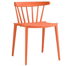 Molded Dining Chairs Spindle Back Abs Plastic Molded Dining Chair Mcm Classics
