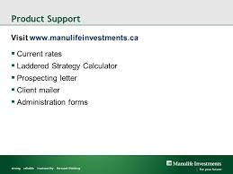 manulife investments gic laddered account option guaranteed