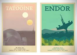 travel posters images Retro travel posters for fantasy locations by ali xenos jpg