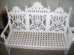 victorian cast iron curtain american garden bench for sale