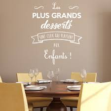 stickers muraux cuisine citation sticker citation cuisine les plus grands desserts stickers