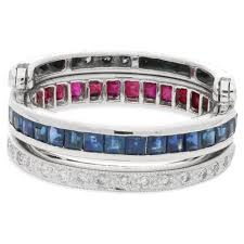 ruby eternity ring a sapphire ruby and diamond flip eternity ring set in white gold