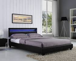 king headboard with lights double king size bed frame led headboard night light and mattress