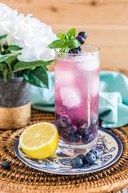 blueberry martini recipe blueberry basil gin fizz cocktail recipe to try today
