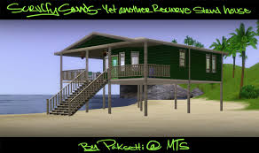 mod the sims scruffy sands yet another recurve strand stilt house