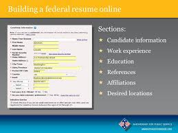 Usa Jobs Federal Resume by Mastering The Federal Application Process Ppt Download