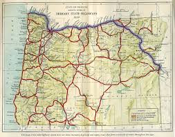 oregon of state route map