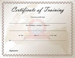 certificate of training certificate of training pinterest