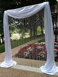 wedding backdrop using pvc pipe you can hardly tell it is made of pvc pipe pipe and drape arch