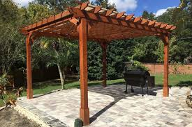 pergola styles cedar pergola kits with and without canopies all sizes many