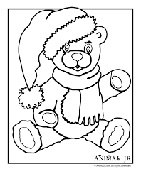 christmas teddy bear coloring animal jr