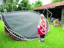 tornado flattens shed thumps car lifts trampoline onto roof