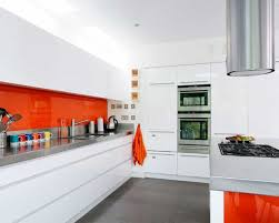 white kitchen orange accents kitchen remodel keeping the