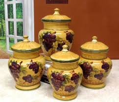 decorative canister sets kitchen kitchen accessories grape ceramic decorative kitchen canisters