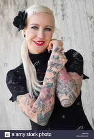tattoo model ivonne koerner alias u0027miss ivi u0027 poses for the