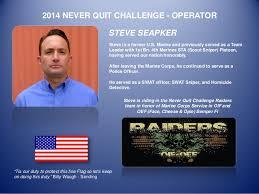 Challenge And Steve Steve Seapker 2014 Never Quit Challenge Operator