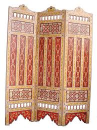 Moroccan Room Divider Moroccan Screen Decor Moroccan Painted Room Divider Decor