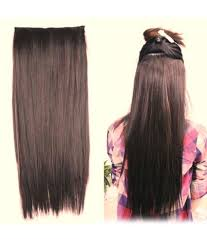 Synthetic Hair Extension by Out Of Box Straight Hair Extensions Synthetic Hair Natural Brown