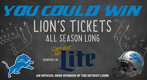 win detroit lions miller lite tap room tickets with 97 1 the