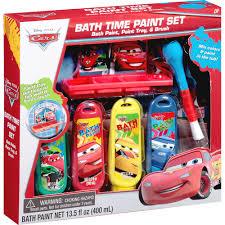 disney pixar cars bath time paint set 6 pc walmart com