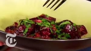 thanksgiving recipes beet salad with garlic walnut sauce
