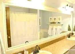 Large Bathroom Mirror Frames Bathroom Mirror Framed Framed Bathroom Mirror With Regard To
