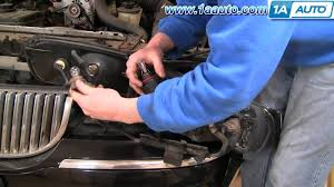 how to install repair replace headlight assembly lincoln town car