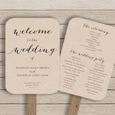 diy wedding program templates diy wedding paddle fan program template templates resume