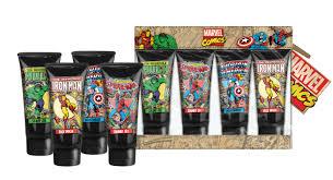 marvel comics heroes bath and body travel set