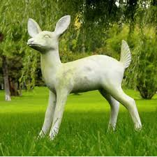 fawn deer outdoor garden statue by orlandi statuary faux concrete