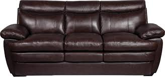 Leather Furniture Marty Genuine Leather Sofa Brown The Brick